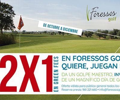 Cliente: Foressos Golf Acción: Piezas gráficas promocionales